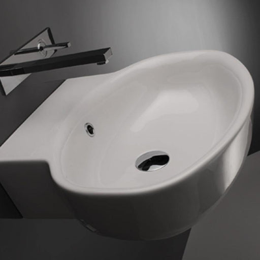 STUDIO BAGNO-Studio Bagno Lago 540mm Basin - Basin, Bathroom, Brand_Studio Bagno, Colour_Gloss White, Material_Ceramic, Product Type_Above Counter Basin, Product Type_Wall Hung Basin, Shape & Design_Organic-Ideal Bathroom Centre