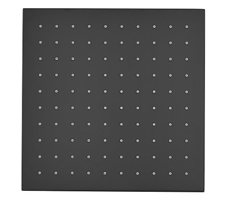Millennium Kiato Square Overhead Shower Rose 250mm Black