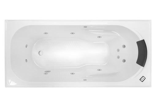 Decina MODENA 1520 CONTOUR 12 JETS WHITE - Idealbathroomcentre