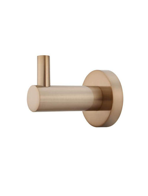 Meir-Meir Round Robe Hook - Brand_Meir, Collection_Round, Colour_ Matte Black, Colour_Brushed Gold, Colour_Brushed Nickel, Colour_Champagne, Colour_Chrome, Product Type_Robe Hook, Room_Bathroom, Shape & Design_Round-Ideal Bathroom Centre