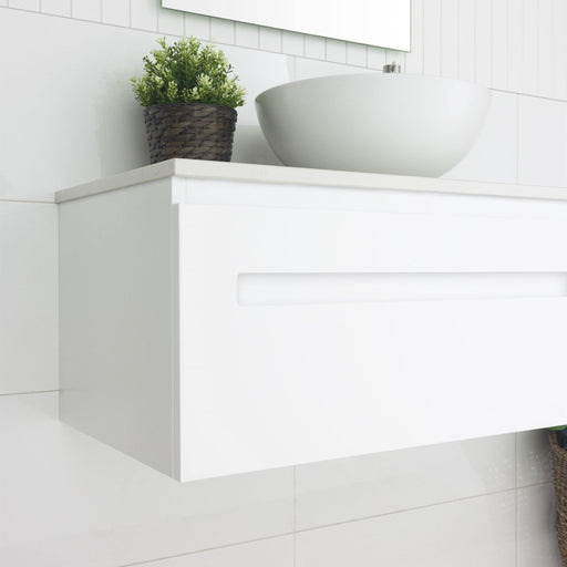 MARQUIS-Marquis Rossi Wall Hung Vanity - Brand_Marquis, Colour_Gloss White, Colour_Matte Grey, Colour_Matte White, Colour_Woodgrain, Product Type_ Wall Hung Vanity, Size_1200mm, Size_1500mm, Size_1800mm, Size_600mm, Size_750mm, Size_900mm, Vanity Tops_ Polymarble Top, Vanity Tops_Stone Tops, Vanity Tops_Timber Tops-Ideal Bathroom Centre