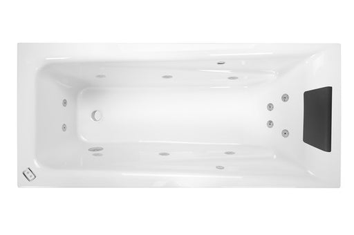 Decina NOVARA 1525 CONTOUR 12 JETS WHITE - Idealbathroomcentre