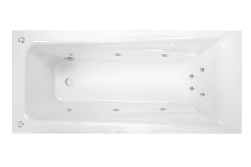 Decina NOVARA 1525 SANTAI 10 JETS WHITE - Idealbathroomcentre