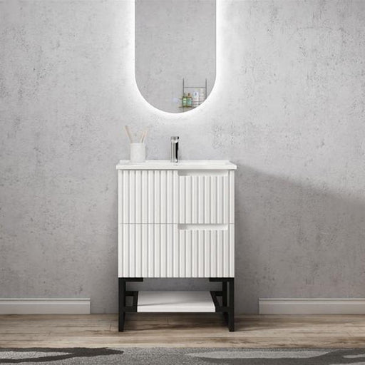 Otti Noosa 600mm Vanity Matte White - Idealbathroomcentre