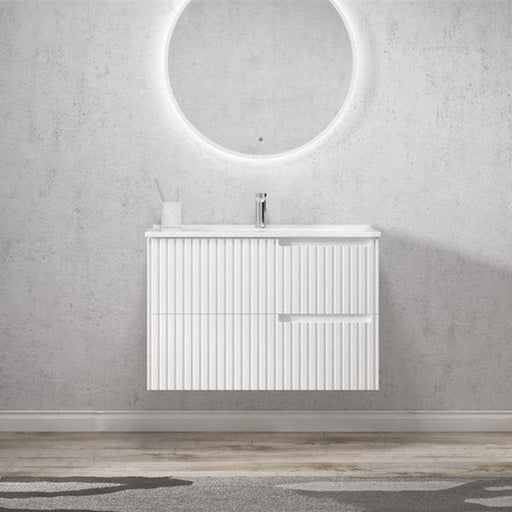 Otti Noosa 900mm Vanity Matte White - Idealbathroomcentre