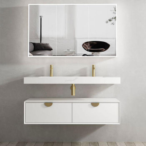 Otti Australia-Otti Moonlight 1200mm Wall Hung Vanity - Brand_Otti Australia, Colour_Matte White, Product Type_ Wall Hung Vanity, Size_1200mm, Vanity Tops_ Solid Stone Top-Ideal Bathroom Centre