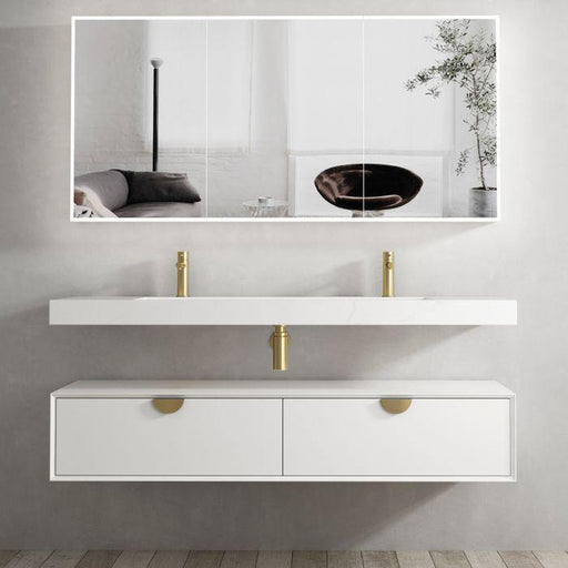 Otti Australia-Otti Moonlight 1500mm Wall Hung Vanity - Brand_Otti Australia, Colour_Matte White, Product Type_ Wall Hung Vanity, Size_1500mm, Vanity Tops_ Solid Stone Top-Ideal Bathroom Centre