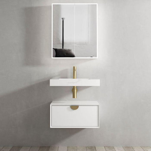 Otti Australia-Otti Moonlight 600mm Wall Hung Vanity - Brand_Otti Australia, Colour_Matte White, Product Type_ Wall Hung Vanity, Size_600mm, Vanity Tops_ Solid Stone Top-Ideal Bathroom Centre