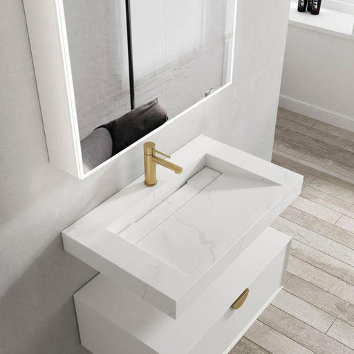 Otti Australia-Otti Moonlight 750mm Wall Hung Vanity - Brand_Otti Australia, Colour_Matte White, Product Type_ Wall Hung Vanity, Size_750mm, Vanity Tops_ Solid Stone Top-Ideal Bathroom Centre
