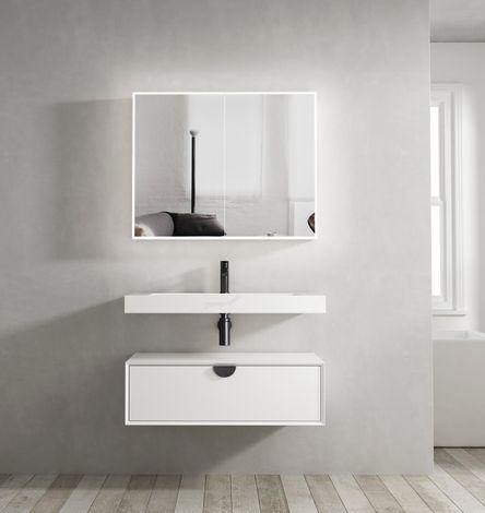 Otti Australia-Otti Moonlight 900mm Wall Hung Vanity - Brand_Otti Australia, Colour_Matte White, Product Type_ Wall Hung Vanity, Size_900mm, Vanity Tops_ Solid Stone Top-Ideal Bathroom Centre