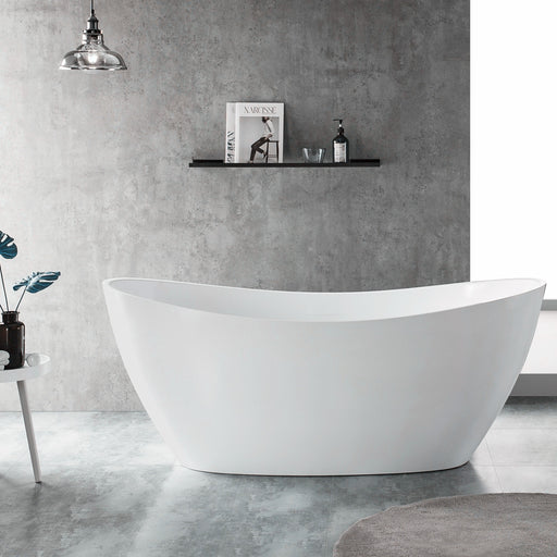 Milano Paris 1500/1700mm  Freestanding Bath-Matte White - Idealbathroomcentre