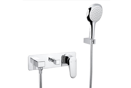 Linsol Platinum Wall Mixer with Divertor and Hand Shower - Idealbathroomcentre