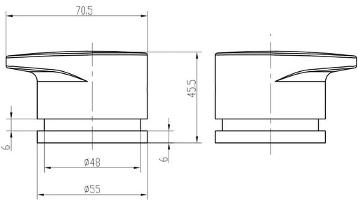 Linsol Platinum Wall Top Assembly - Idealbathroomcentre