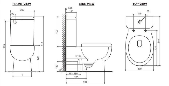 Pavia Boxrim Back To Wall Toilet Suite Bottom Inlet - Idealbathroomcentre