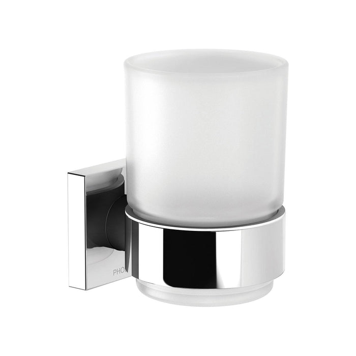 Phoenix Radii Tumbler & Holder Square Plate - Idealbathroomcentre