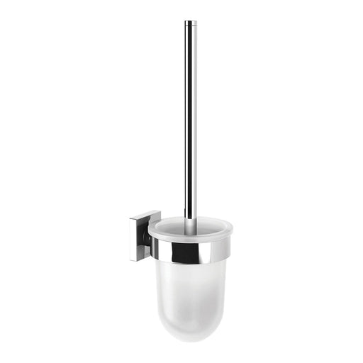 Phoenix Radii Toilet Brush  & Holder Square Plate - Idealbathroomcentre