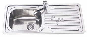 Classic Drop-in Kitchen Sink - 920x435x170mm