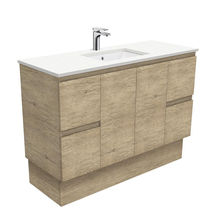 Fienza Edge Scandi Oak 1200mm Vanity With Undermounted Stone Top