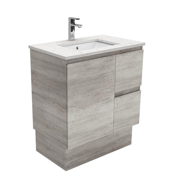 Fienza Edge Industrial 750mm Vanity With Undermounted Stone Top - Idealbathroomcentre
