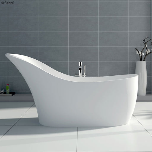 FIENZA La Vida 1690mm Cast Stone Baths Matte White