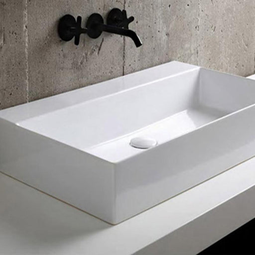 STUDIO BAGNO-Studio Bagno Shard 750mm Basin - Basin, Bathroom, Brand_Studio Bagno, Colour_ Matte Black, Colour_Gloss White, Colour_Matte Anthracite, Colour_Matte Ash, Colour_Matte Cocoa, Colour_Matte Nature Green, Colour_Matte Royal Blue, Colour_Matte Taupe, Colour_Matte White, Colour_Perle, Material_Ceramic, Product Type_Above Counter Basin, Product Type_Wall Hung Basin, Shape & Design_Rectangle-Ideal Bathroom Centre