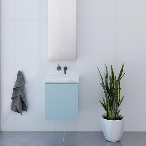 TIMBERLINE-Timberline Billie 450mm Vanity - Brand_Timberline, Colour_ Matte Black, Colour_Gloss White, Colour_Matte Duck Egg Blue, Colour_Matte Grey, Colour_Matte Mint Green, Colour_Matte Navy Blue, Colour_Matte Pastel Pink, Colour_Matte White, Colour_Woodgrain, Product Type_ Freestanding Vanity, Product Type_ Small Space Vanity, Product Type_ Wall Hung Vanity, Product Type_Ensuite/Narrow Vanity, Size_450mm, Vanity Tops_ Solid Stone Top, Vanity Tops_Stone Tops-Ideal Bathroom Centre