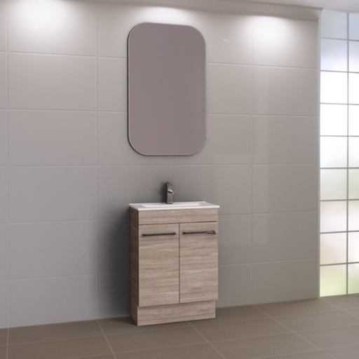 TIMBERLINE-Timberline Ensuite 600mm Vanity - Brand_Timberline, Colour_ Matte Black, Colour_Gloss White, Colour_Matte Duck Egg Blue, Colour_Matte Grey, Colour_Matte Mint Green, Colour_Matte Navy Blue, Colour_Matte Pastel Pink, Colour_Matte White, Colour_Woodgrain, Product Type_ Freestanding Vanity, Product Type_ Small Space Vanity, Product Type_ Wall Hung Vanity, Product Type_Ensuite/Narrow Vanity, Size_600mm, Vanity Tops_ Polymarble Top-Ideal Bathroom Centre