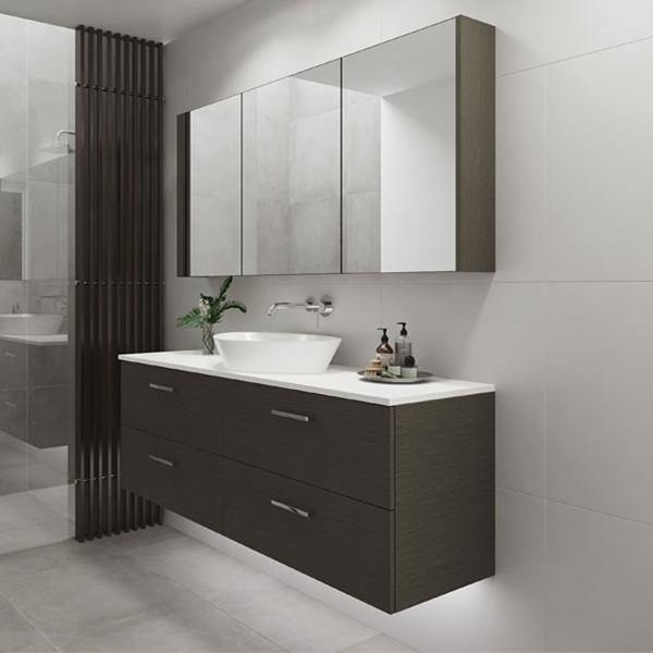 Timberline Nevada Plus 1500mm Wall Hung Vanity with Silk Surface Top & White Gloss Ceramic, Centre Basin - Idealbathroomcentre