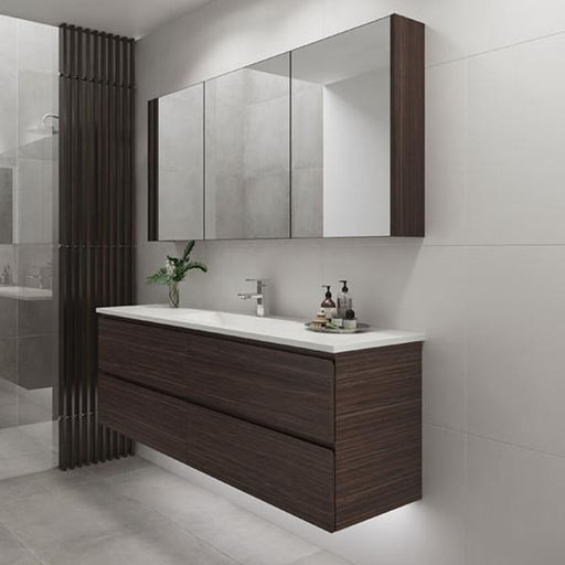 Timberline Nevada Plus 1800mm Wall Hung Vanity, Regal Acrylic Top, Centre Basin
