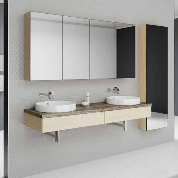 Timberline Splice Wall Hung 1800mm with Timber Top - Idealbathroomcentre
