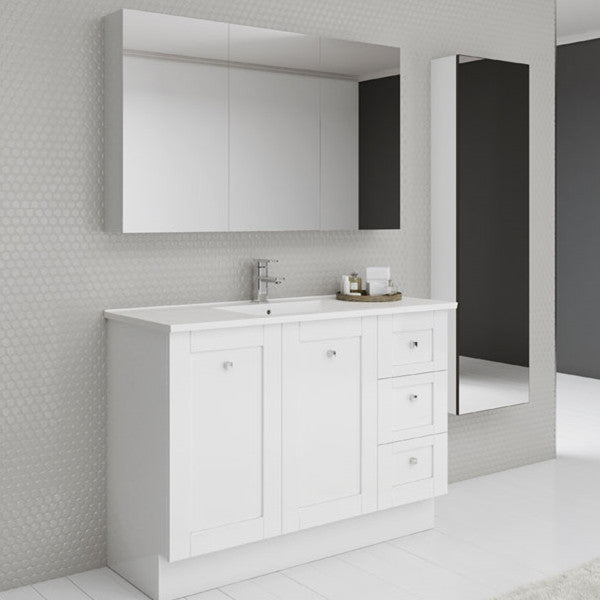 Timberline Victoria 1200mm Freestanding Vanity with Ceramic Top