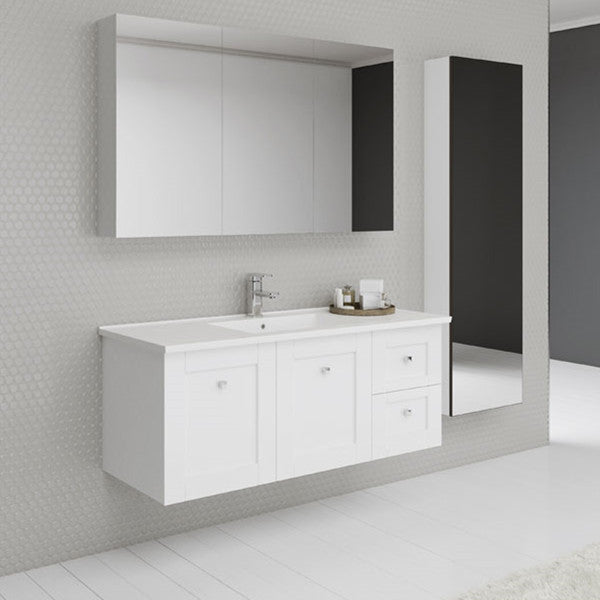 Timberline Victoria 1200mm Wall Hung Vanity with Ceramic Top - Idealbathroomcentre