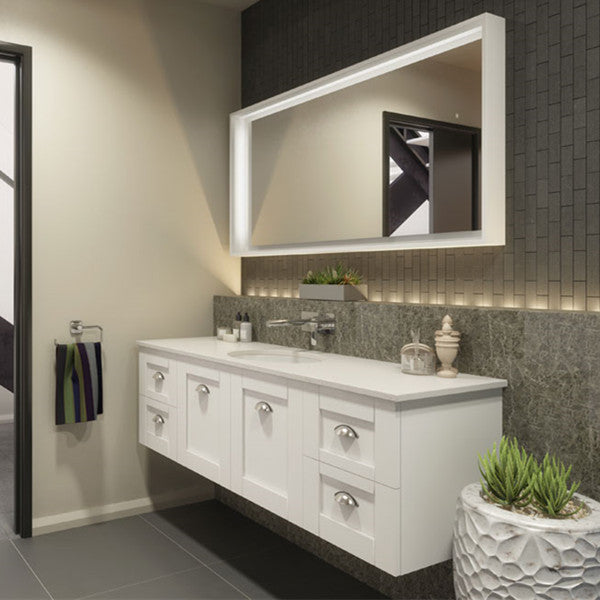 Timberline Victoria 1500mm Wall Hung Vanity with Stone Top