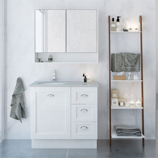 Timberline Victoria 900mm Freestanding Vanity with Stone Top - Idealbathroomcentre