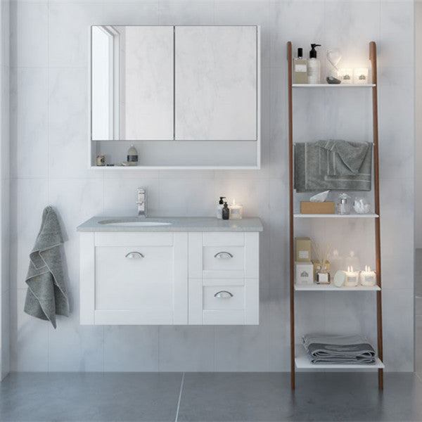 Timberline Victoria 900mm Wall Hung Vanity with Stone Top