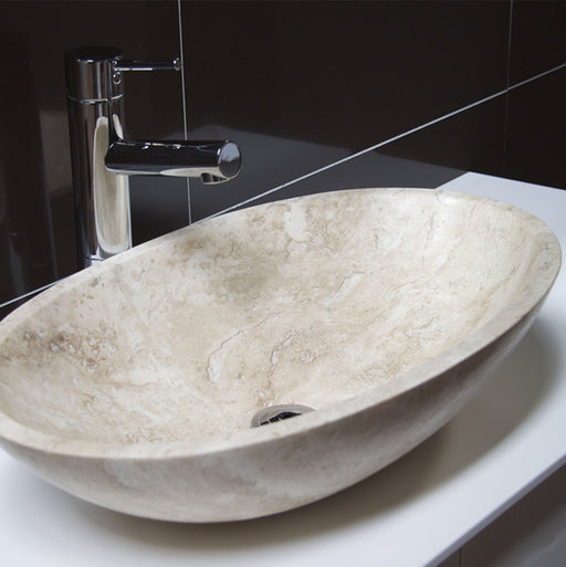 Forme Navona Oval 580mm Natural Stone Basin
