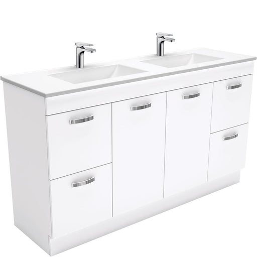 Fienza Vanessa 1500mm Double Bowl Uni Cabinet with Kick