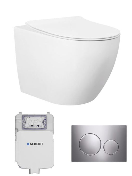 Geberit Voghera Concealed Wall Face Toilet Suite