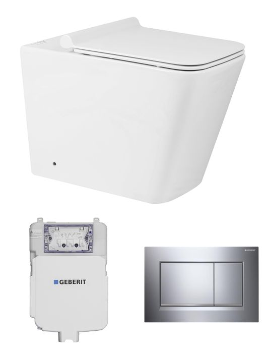 Geberit X-Cube Concealed Wall Face Toilet Suite - Idealbathroomcentre