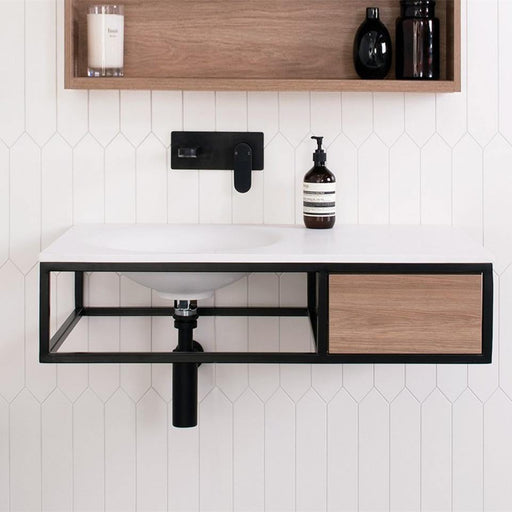 ADP-ADP Cobalt Wall Hung Vanity - Brand_ADP, Colour_ Matte Black, Colour_Gloss White, Colour_Matte Grey, Colour_Matte White, Colour_Woodgrain, Product Type_ Wall Hung Vanity, Vanity Tops_ Solid Stone Top, Vanity Tops_Ceramic Tops-Ideal Bathroom Centre