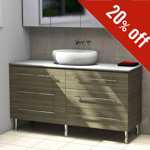 Timberline Ashton 1500mm Freestanding Vanity on Legs Bamboo - Idealbathroomcentre
