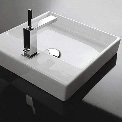 STUDIO BAGNO-Studio Bagno Berlin Baby 440mm Basin - Basin, Bathroom, Brand_Studio Bagno, Colour_ Matte Black, Colour_Gloss Black, Colour_Gloss White, Colour_Matte White, Material_Ceramic, Product Type_Above Counter Basin, Product Type_Wall Hung Basin, Shape & Design_Square-Ideal Bathroom Centre