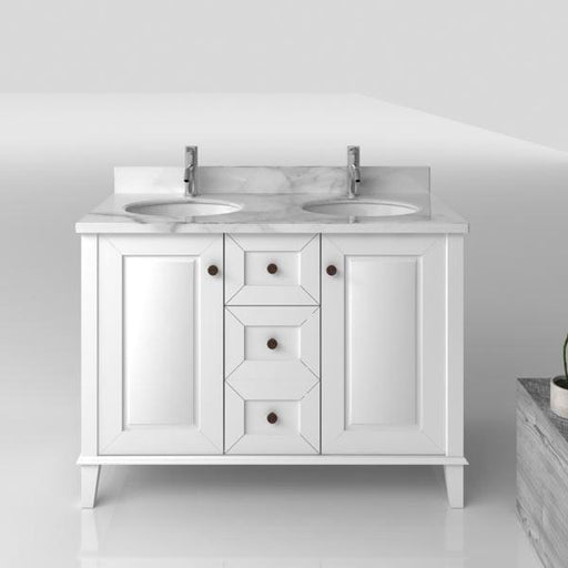 TURNER HASTINGS Coventry 1200mm Vanity With White Marble Top Double Bowl
