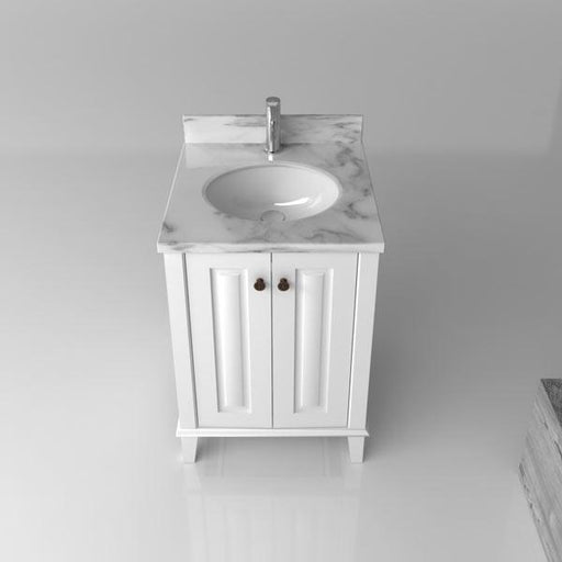 TURNER HASTINGS Coventry 600mm Vanity With White Marble Top