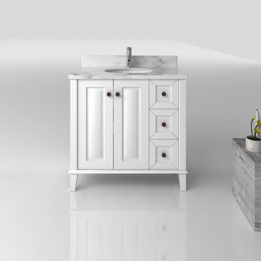 TURNER HASTINGS Coventry 900mm Vanity With White Marble Top