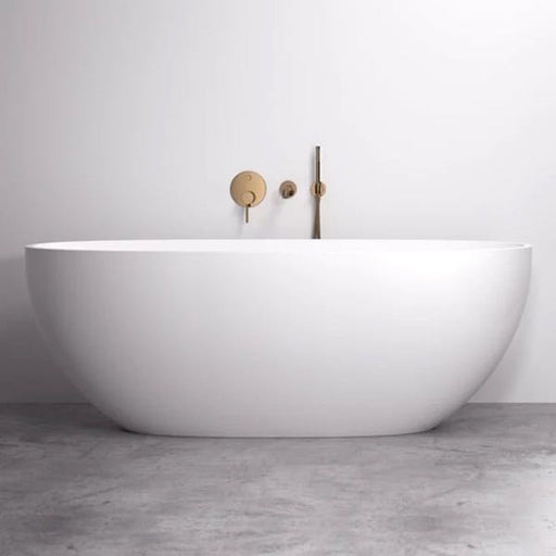 Cassa Design Egg Shape Freestanding Bath-Matte White - Idealbathroomcentre