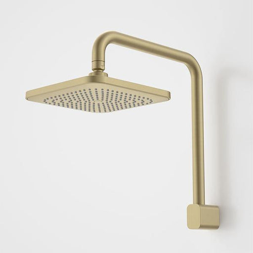 CAROMA-Caroma Luna Fixed Overhead Shower - Brand_Caroma, Collection_Luna, Colour_ Matte Black, Colour_Brushed Gold, Colour_Brushed Nickel, Colour_Chrome, Product Type_Wall Arm & Rose, Room_Bathroom, Shape & Design_Soft Square-Ideal Bathroom Centre