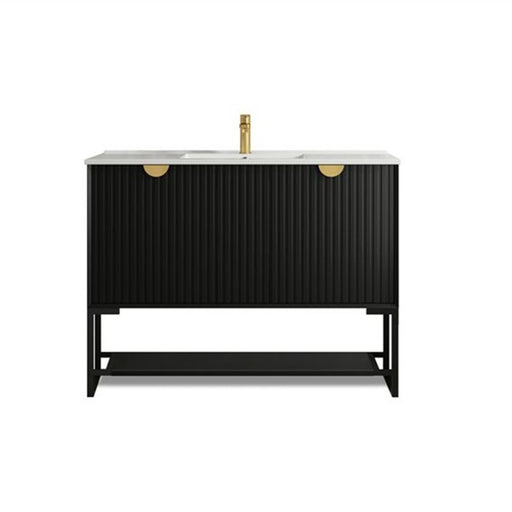 Otti Marlo 1200mm Wall Hung Vanity Matte Black - Idealbathroomcentre