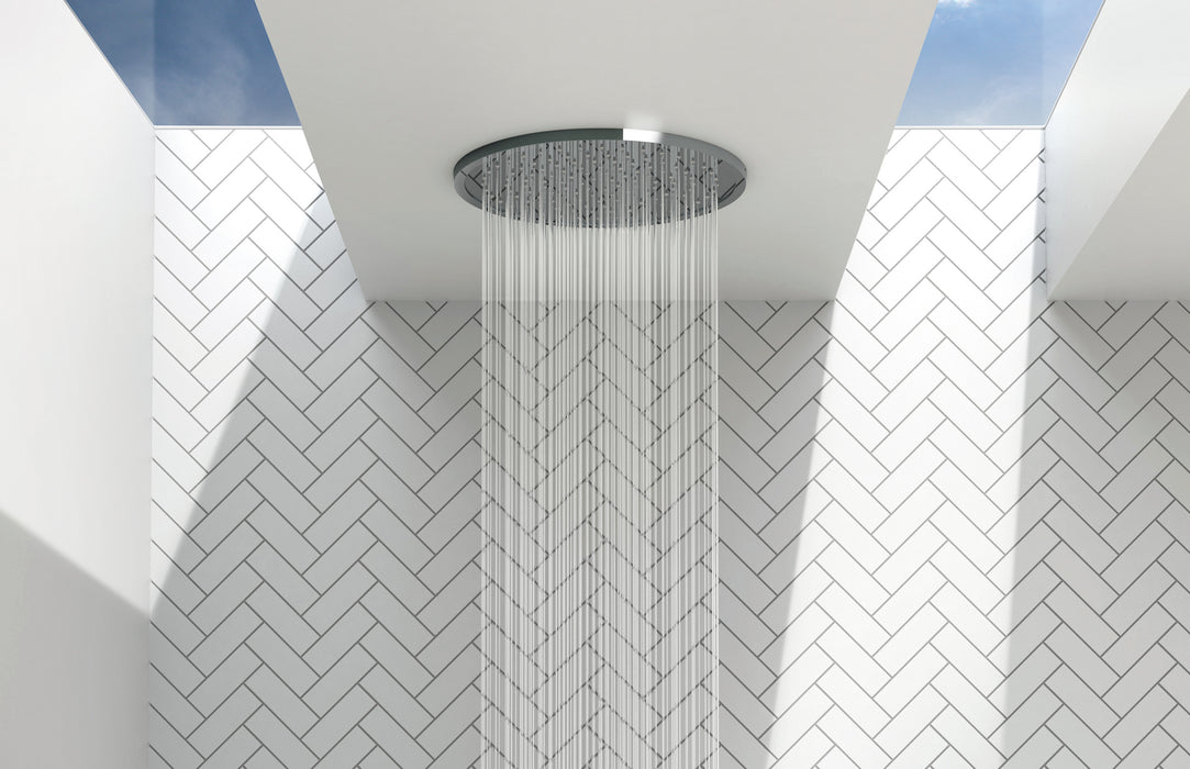 Phoenix Vivid Slimline Flush Ceiling Shower 300mm Round - Idealbathroomcentre