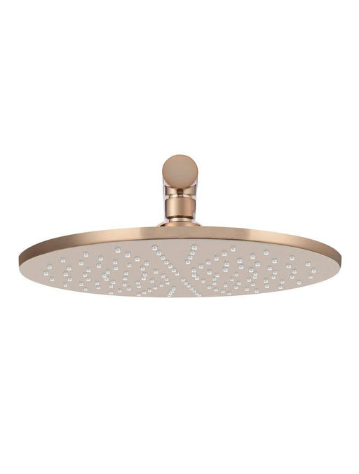 Meir-Meir Round Wall Shower 300mm Rose, 400mm Arm - Brand_Meir, Collection_Round, Colour_ Matte Black, Colour_Brushed Nickel, Colour_Champagne, Colour_Tiger Brone, Product Type_Wall Arm & Rose, Room_Bathroom, Shape & Design_Round-Ideal Bathroom Centre